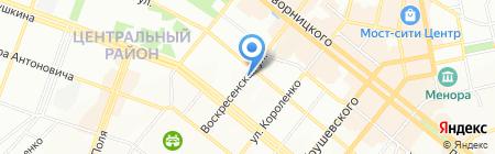 Еврогардины на карте Днепропетровска