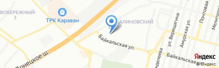 Середня загальноосвітня школа №63 на карте Днепропетровска