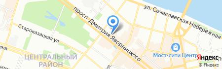 Смокинг на карте Днепропетровска