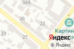 Схема проезда до компании Нотариус Калинович С.П. в Днепре