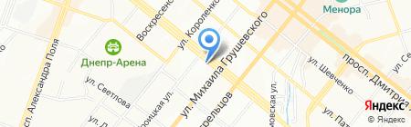 Тотошка на карте Днепропетровска