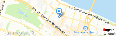 Середня загальноосвітня школа №19 на карте Днепропетровска