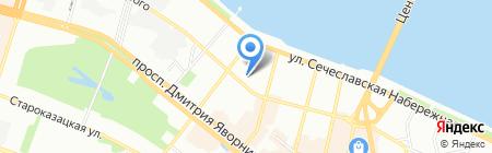 Комплект на карте Днепропетровска
