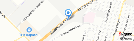 Грузовой шиномонтаж на карте Днепропетровска
