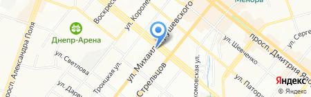 Юпитер на карте Днепропетровска
