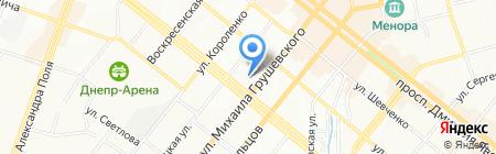 GLOSS на карте Днепропетровска