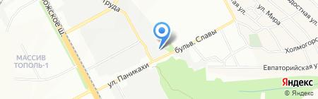 Гранитус на карте Днепропетровска