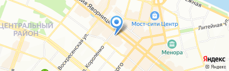 Рыбный дворик на карте Днепропетровска