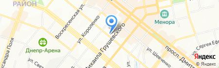 Классик на карте Днепропетровска