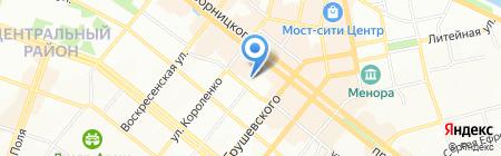 Каскад на карте Днепропетровска