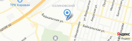 Янтарь на карте Днепропетровска