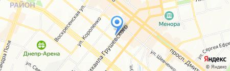 Офелія на карте Днепропетровска