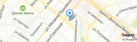 Стелля на карте Днепропетровска