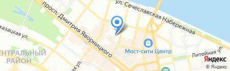Трест реконструкции и развития на карте Днепропетровска