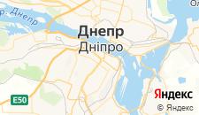 Гостиницы города Днепропетровск на карте