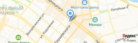 Дом посуды на карте Днепропетровска