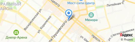 Центр компьютерного образования ЧП на карте Днепропетровска