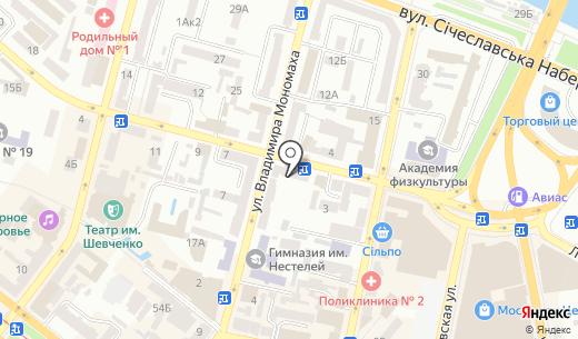 Метр. Схема проезда в Днепропетровске