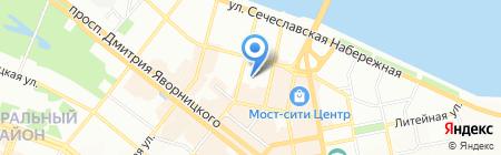 Горфес на карте Днепропетровска