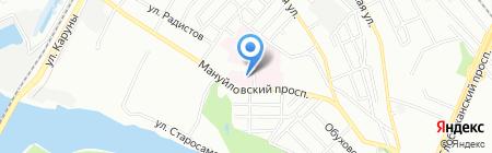 Дніпропетровська міська дитяча клінічна лікарня №1 на карте Днепропетровска