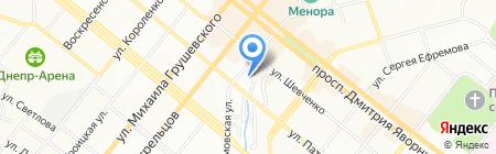 Адрем на карте Днепропетровска