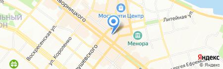 Восток на карте Днепропетровска