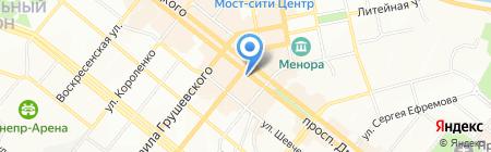XO на карте Днепропетровска