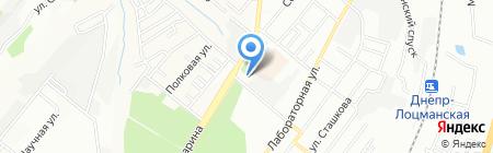 Кодацька вода на карте Днепропетровска