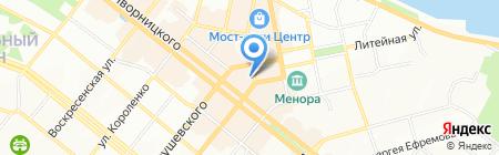 Итальянский квартал на карте Днепропетровска