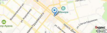Юми-тревел на карте Днепропетровска