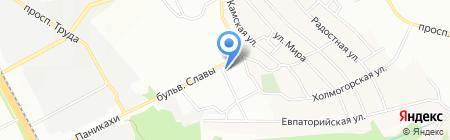 Птица счастья на карте Днепропетровска