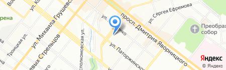 Энтоп на карте Днепропетровска