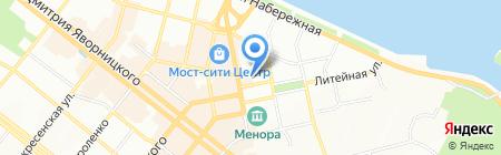 Автошкола №1 на карте Днепропетровска