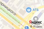 Схема проезда до компании Банкомат, КРЕДОБАНК, ПАТ в Днепре