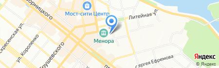 Укрлит на карте Днепропетровска