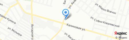 Золотая рыбка на карте Днепропетровска