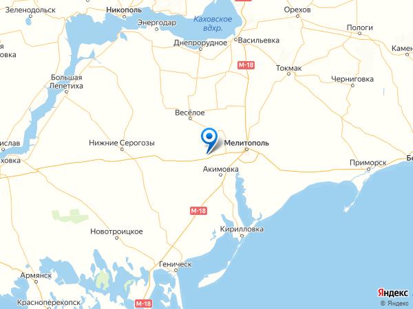 поселок Степное на карте