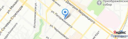 L`orange на карте Днепропетровска