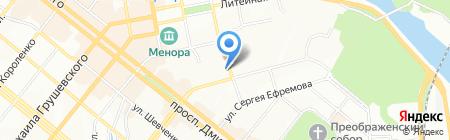 Оверия на карте Днепропетровска