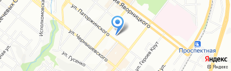 Терминал самообслуживания Банк Кредит Днепр на карте Днепропетровска