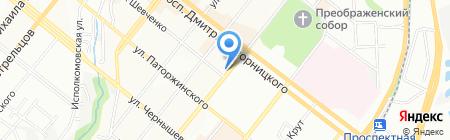 Самшит на карте Днепропетровска