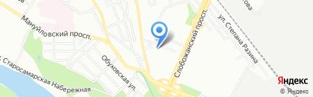 Волант на карте Днепропетровска