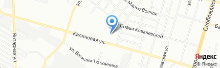Дніпропетровська дитяча музична школа №16 на карте Днепропетровска