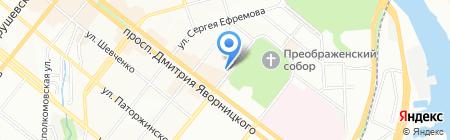 Артист на карте Днепропетровска