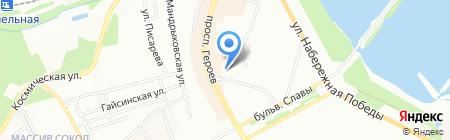 Зенит на карте Днепропетровска
