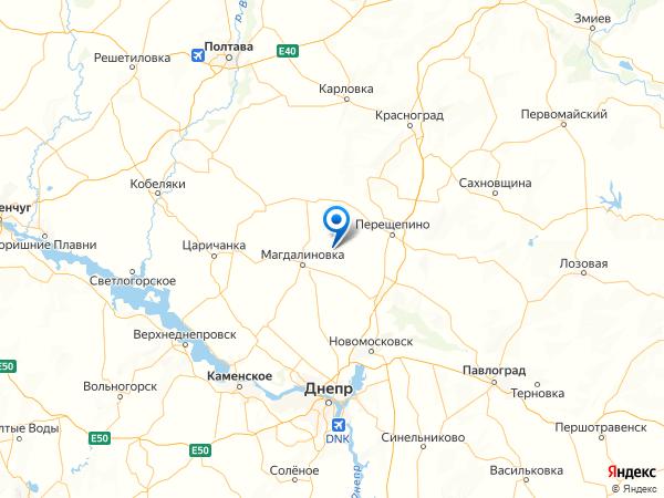 село Ждановка на карте