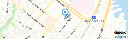 Беютага на карте Днепропетровска