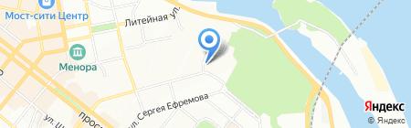 Міський дитячо-молодіжний центр Жовтневого району на карте Днепропетровска