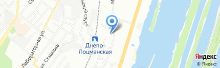 Середня загальноосвітня школа №76 на карте Днепропетровска