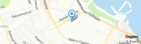 Золотой Ноготок на карте Днепропетровска